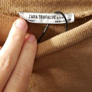 Zara Dresses - Zara tan black lace sweater dress nwt sz s
